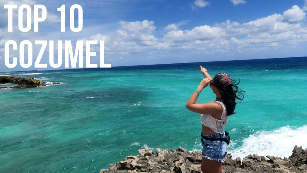 cozumel tourist on beach